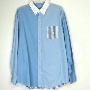Chaps Easy Care Button Front Shirt Size XL
